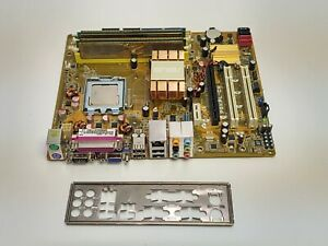 ASUS P5KPL-CM MOTHERBOARD INTEL E8200 CORE 2 DUO CPU IO SHIELD 4GB OCZ2G8001GK 2