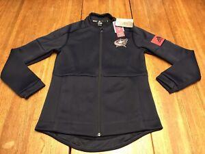 NWT's Adidas Womens Medium NHL Columbus Blue Jackets Game Mode Jacket Size SMALL