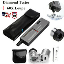 Jeweler Diamond Tool Kit Portable Diamond Tester - 60X Illuminated Loupe US
