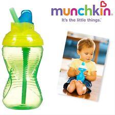 Munchkin Mighty Grip Flip Straw Cup, 10 Ounce each (GREEN)