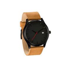 Men Business Quartz Analog Wrist Watch Leather Band Fashion Charm Gifts 4 Colour
