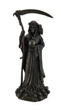 Santa Muerte Antique Bronze Finish Grim Reaper Statue