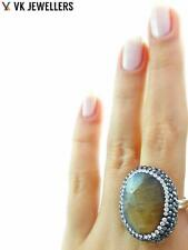 Turkish Handmade 925 Sterling Silver Jewelry Natural Quartz Hot Druzy Ring C67