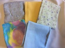 FAT QUARTER BUNDLE OF 5-100% COTTON - F61-FLANNEL