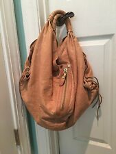 OrYany Heather Handbag Peach Italian Leather XXXL HUGE Shoulder Bag Purse