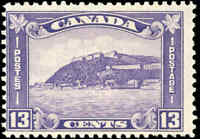 1932 Mint H Canada F Scott #201 13c King George V Medallion Stamp