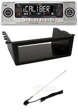 Classic Car Retro Look Chrome CD Player / Mounting Tray and Chrome Roof Aerial