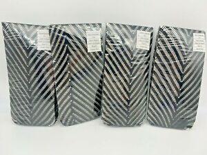 4 pr - SAMPLES-Queen Size Nylon Openwork Tights - Black Chevron (1010-Lot 6)