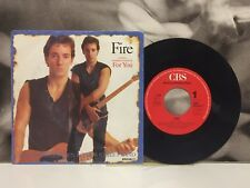 """BRUCE SPRINGSTEEN & THE E STREET BAND - FIRE / FOR YOU 7"""" 45 GIRI HOLLAND 1987"""
