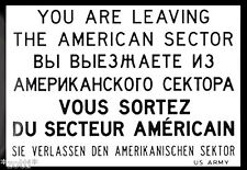 Nostalgic Art aimant réfrigérateur 8 cm x 6 cm You Are Living American Sector #