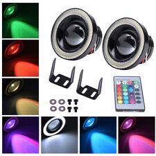 "2Pcs Multi-Color RGB 3.5"" Projector LED Fog Light w/ COB Halo Angel Eyes Rings"