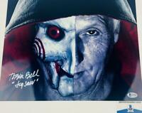Tobin Bell signed JIGSAW SAW 11X14 METALLIC photo BAS COA H32808