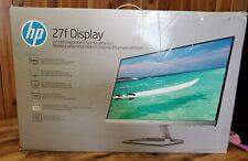 "HP 27f Display 27"" Full HD IPS Ultra-Slim Backlit LED Micro, New, Open Box"