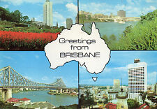 Postcard Australia  Greetings from Brisbane  multiview posted