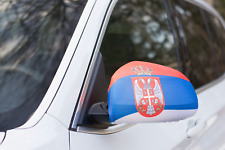 SERBIA CAR MIRROR FLAG COVERS 2018 WORLD CUP SHIPS FROM USA