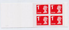 GB 2016 4 x 1st LARGE ROYAL MAIL SBP CYLINDER W3 BOOKLET RB5 CODE M16L