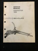 New Holland Service Manual Harvester 1600 *722