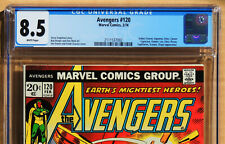 AVENGERS #120, CGC 8.5, VF+, White Pages, Marvel Comics, 1974