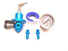 Rsr Presión de Combustible Regulador Azul Ajustable Manómetro VR6 16V G60 G40