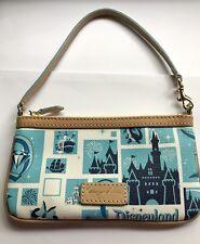 Disneyland California 60th Anniversary Dooney & Bourke Wristlet Bag, Castle, NEW