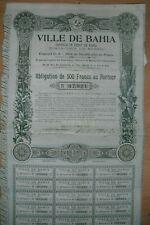 Ville de Bahia 1906  Brasil  Brasilien Bresil