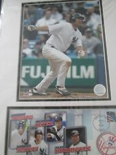 New York Yankees Johnny Damon  Photo File Matted Framed Print issued by USPS