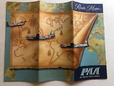 1960's Pan Am Airlines International Route Map Booklet  Great Condition!