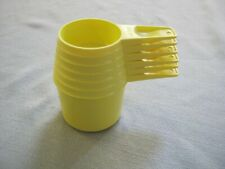 6 Vintage Yellow Tupperware Measuring Cups
