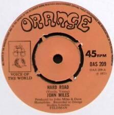 """JOHN MILES~HARD ROAD / YOU'RE TELLING ME LIES~1973 UK 7"""" SINGLE~ORANGE OAS 209"""