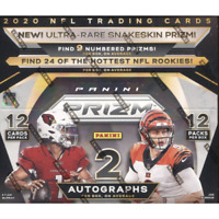 2020 PANINI PRIZM FOOTBALL FACTORY SEALED HOBBY BOX IN STOCK FREE SHIPPING