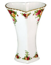 "Royal Albert Old Country Roses Heart Vase 9.5"" H New In Box"