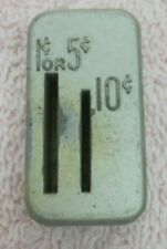 USED Duncan parking meter 1,5,10 cent coin block for model 60 meters and later