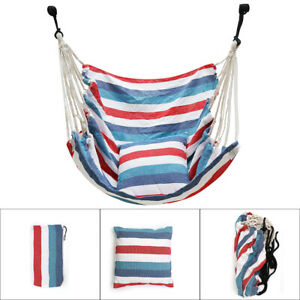 Hammock Chair Comfortable Easy Install Hanging Swing Seat with 2 Pillow Outdoor