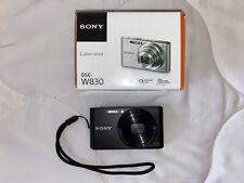 Sony DSC-W830 Digital Camera (Black, No Charger/Memory Card)