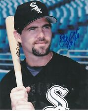 DON SLAUGHT  CHICAGO WHITE SOX  ACTION SIGNED 8x10
