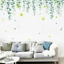 Greenery Foliage Leaf Flower Wall Stickers Home Kids Decor Vinyl PVC Decal Art