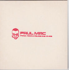 "RARE SAMPLE SINGLE PROMO VERY GOOD CD Paul Mac ""Panic Room//Sunshine Eyes"""