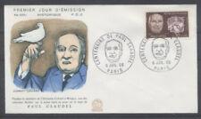 FRANCE FDC - 1553 2 PAUL CLAUDEL - PARIS 6 Juillet 1968 - LUXE