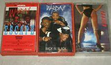 Rare Cassette Tapes - 80s Rap - WHODINI Escape + Back in Black + UTFO Lethal