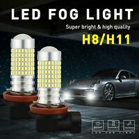 2X Fog Light H11 H8 H9 6000K Super White LED Bulbs for Chevy Cruze Equinox EA
