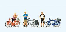 Preiser 10644 HO 1:87 Standing cyclists in sportswear - C-10 Mint Brand New