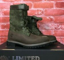 TIMBERLAND MEN'S SPECIAL RELEASE LEATHER GAITER BOOTS BROWN GREEN A1Z2C ALL SIZE