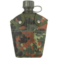 Mil-Tec Military Army Canteen Water Container Carrier Pocket Alice 1L Flecktarn