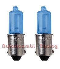 COPPIA LAMPADINE LAMPADE H6W BAX9S ALOGENA BLU-XE LUCE CHIARA 4500k 58129