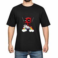 Rainbow Unicorn Men's Cotton Funny Cool T-shirts Short Sleeve Tops Tee