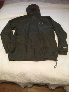 Peter Storm Mens Cagoule Packable Waterproof Jacket Sz L Green Storm Shield