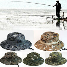 Men Boonie Sun Hat Army Camo Military Fishing Hiking Outdoor Cap Bucket Summer