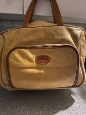 Tangaroa Terrida Italy Brown Leather Travel/Luggage/Shoulder Bag Great COND