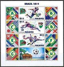 Maldives Soccer FIFA World Cup Brazil 2014 ( I ) Sheet of 4 MNH**