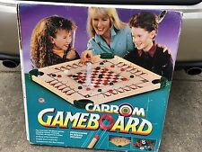 Wooden CARROM Game Board Style w/Instructions Carrom
